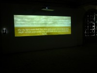Horizons I, video projection, 2011