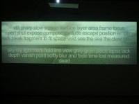Horizons II, video projection, 2011